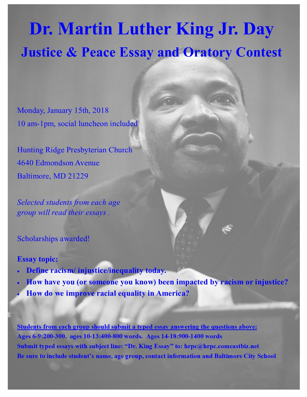Peace essay contest