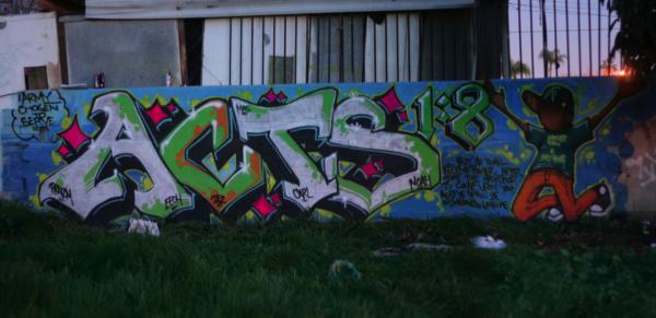 Acts 1-8 graffiti